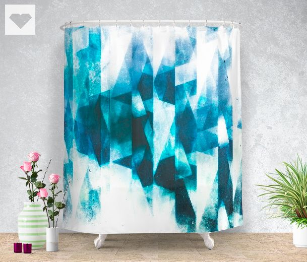 Icy icebergs! Now ready Society6  All available #products -> https://society6.com/product/icy-icebergs_shower-curtain #abstract #society6 #designer