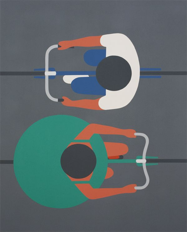 geoff mcfetridge graphic paintings of people from above