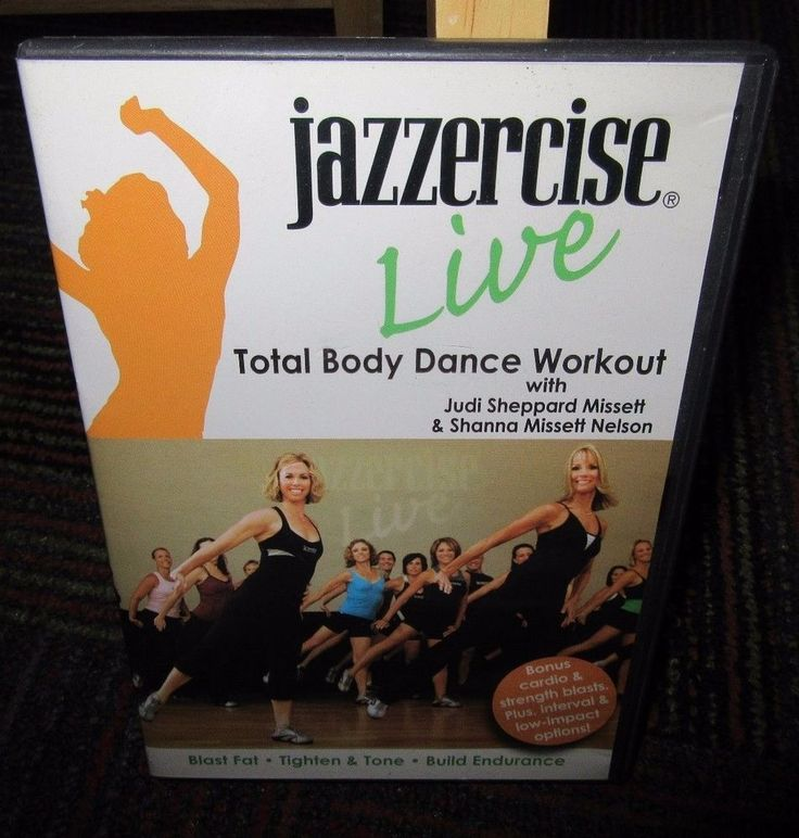 JAZZERCISE LIVE: TOTAL BODY DANCE WORKOUT DVD, BLAST FAST, TIGHTEN & TONE, GUC