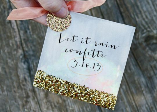 Top DIY Projects of 2013 on Oh Lovely Day   confetti toss favor bags