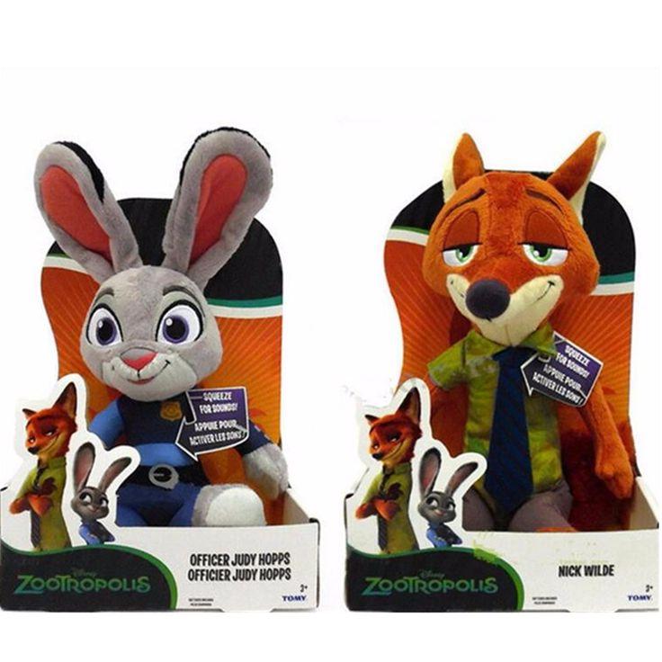 $4.55 (Buy here: https://alitems.com/g/1e8d114494ebda23ff8b16525dc3e8/?i=5&ulp=https%3A%2F%2Fwww.aliexpress.com%2Fitem%2F23-cm-City-of-wild-animal-figurines-Judy-fox-Nick-baby-children-s-creative-gift-plush%2F32652008077.html ) 1pcs 23cm Zootopia Police Rabbit Judy Hopps Plush Dolls Fox Nick Wilde Movie Kids dolls stuffed toys Plush Zootopia Dolls for just $4.55