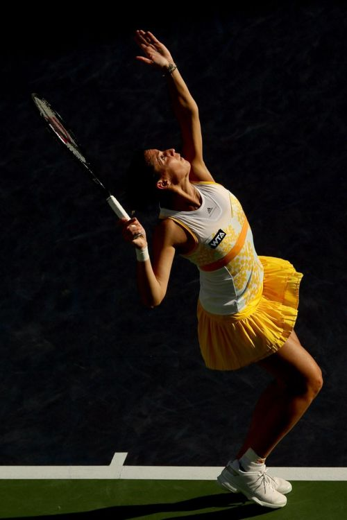 Flavia Pennetta in Stella McCartney for adidas Indian Wells Copyright Getty Images