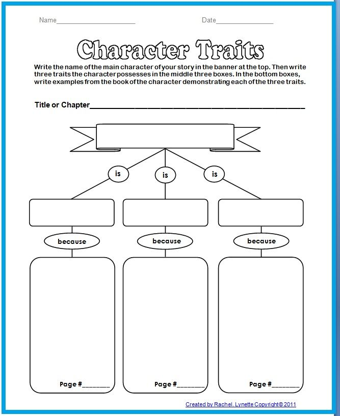 Best 25+ Character Traits Graphic Organizer Ideas On Pinterest