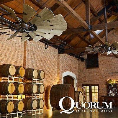 Quorum 72 Quot Galvanized Indoor Windmill Ceiling Fan In