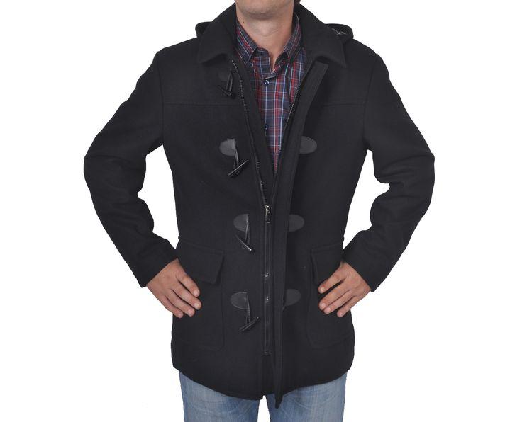 """Ανδρικό Παλτό Μοντγκόμερι """"Scoco"""" σε χρώματα Σύνθεση: 50% Μαλλί & 50% Πολυεστέρας"""