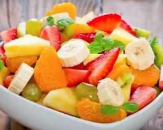 Gateau salade de fruit et caramel