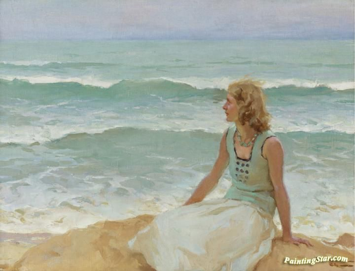On The Beach Artwork by Charles Atamian Hand-painted and Art Prints on canvas for sale,you can custom the size and frame