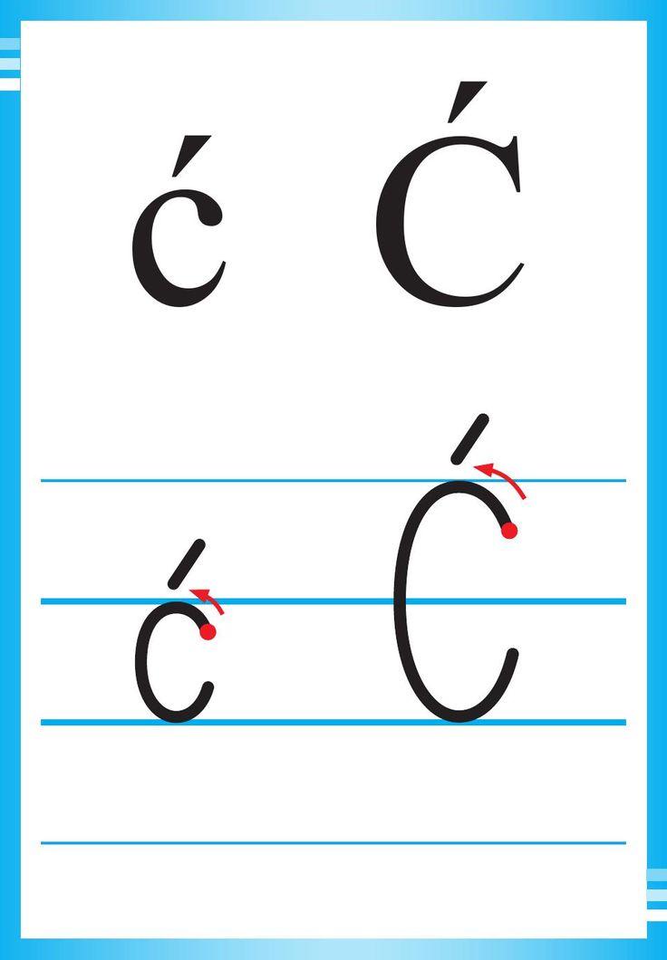 Alfabet polski, pisany dla dzieci do druku 6