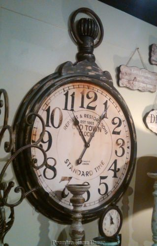 Old World Tuscan Oversized Rustic Pocket Watch Wall Clock