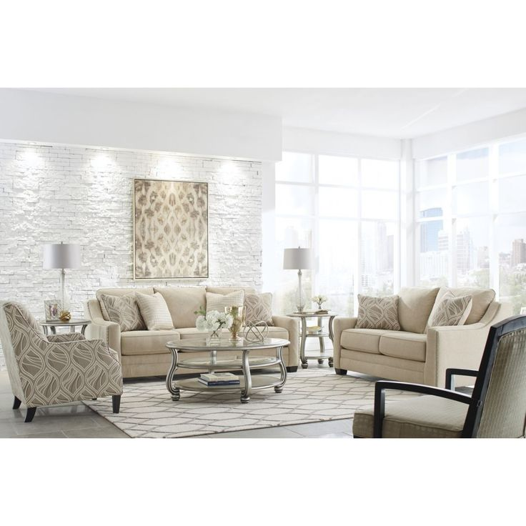The Ashley Furniture Mauricio Livingroom Set In Linen At Local Outlet Would Be A Great Item To Purchase Austin Texas