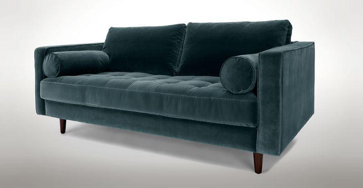 "Sven Pacific Blue 72"" Sofa - Sofas - Article | Modern, Mid-Century and Scandinavian Furniture"