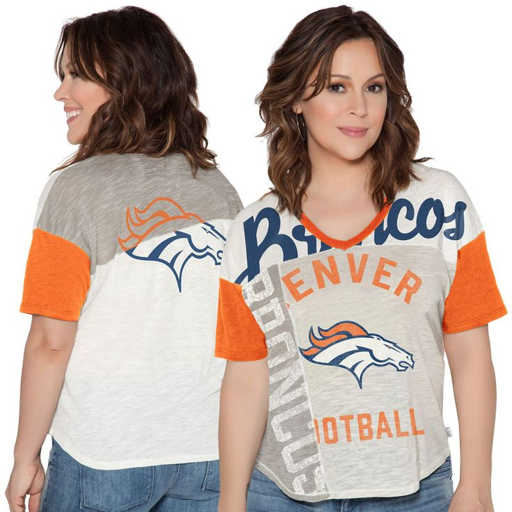 Denver Broncos Touch by Alyssa Milano Women's Touch Power Play T-Shirt - Cream