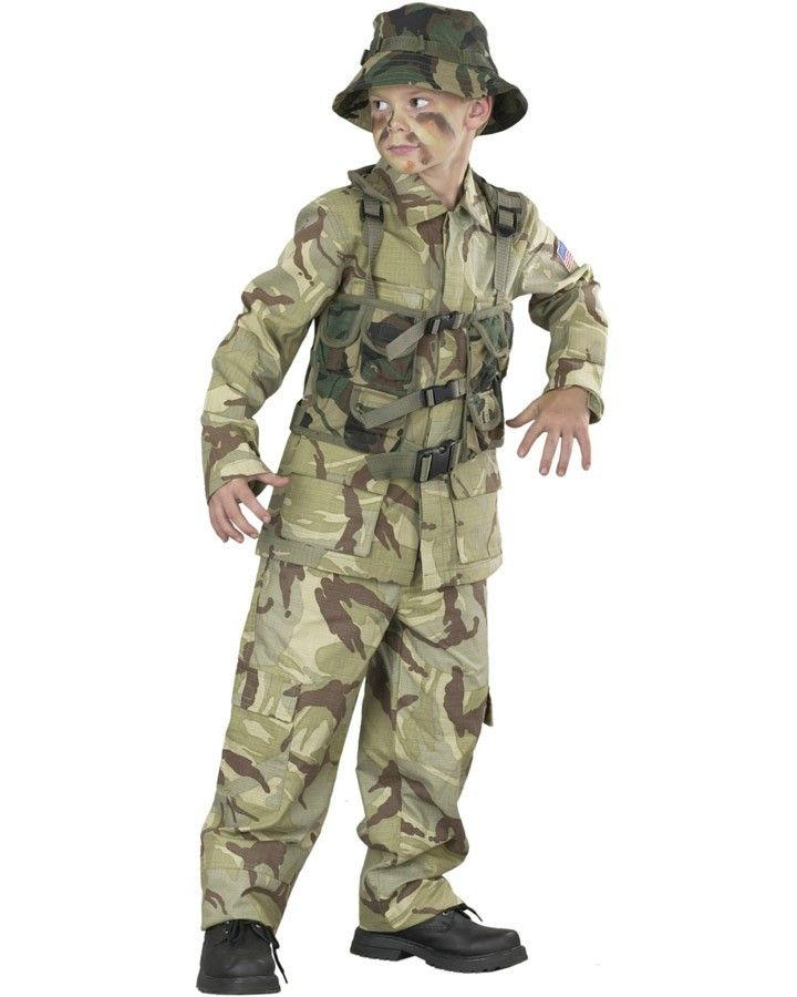 Delta Army Force Boys Costume