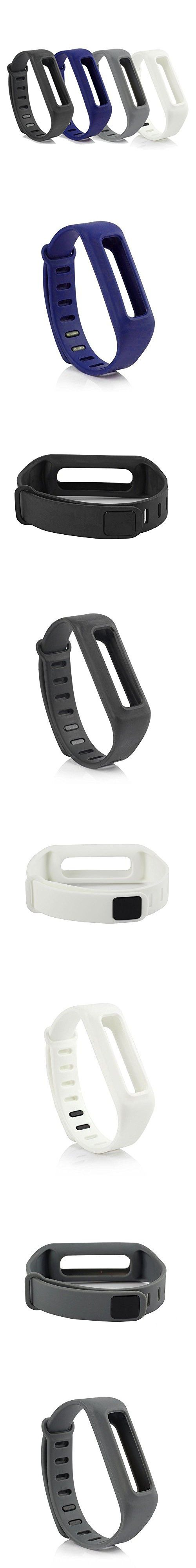 HoneyLife Fitbit One fashion White Silicone Replacement Wristband Bracelet/ Wireless Activity Plus Sleep Tracker Accessory Band with Safety Clasp