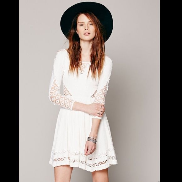 """Selling this """"FREE PEOPLE IVORY PUCKERED STRETCH MINI DRESS NWT"""" in my Poshmark closet! My username is: richbororiches. #shopmycloset #poshmark #fashion #shopping #style #forsale #Free People #Dresses & Skirts"""