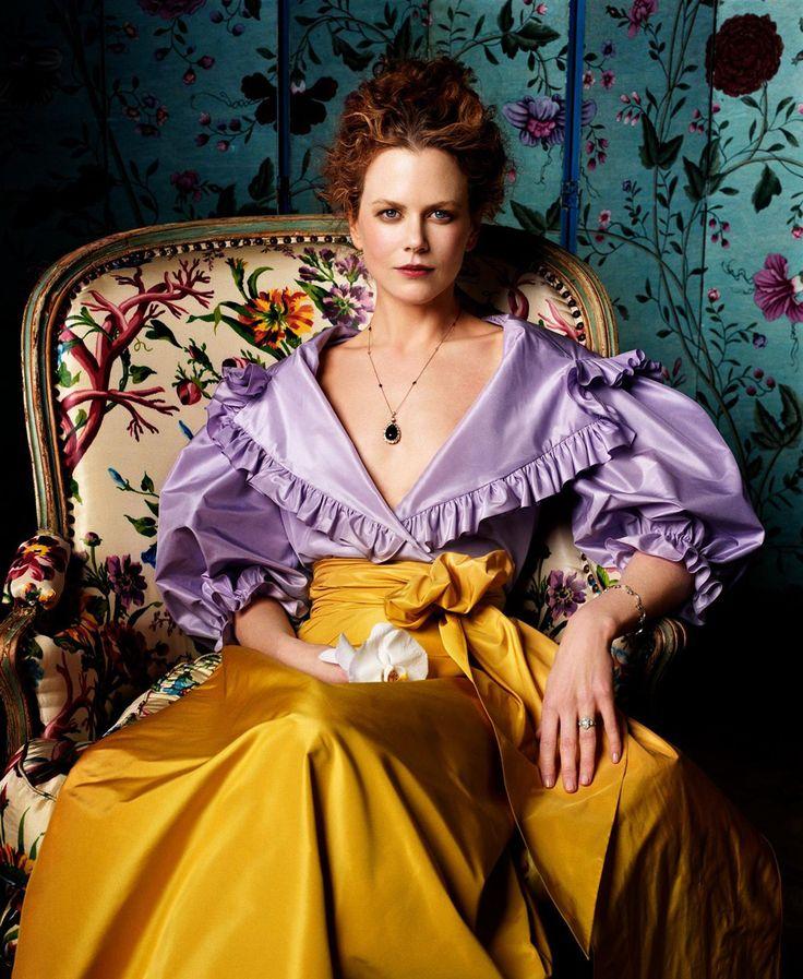 Nicole Kidman as Lady Agnew by John Singer Sargent (1892-1893) - Vogue by Steven Meisel, June 1999