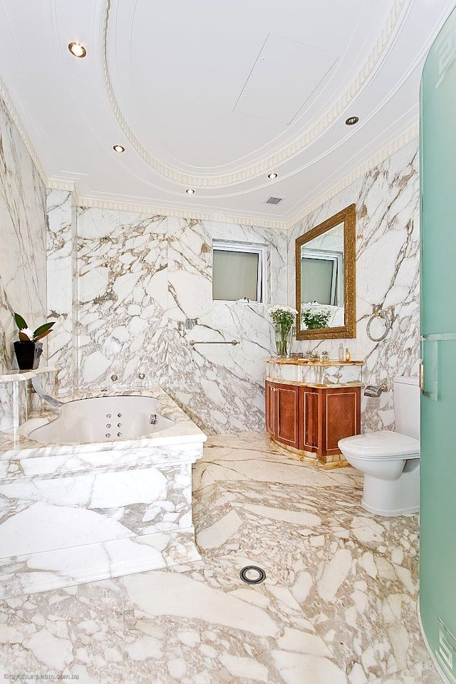 Calacatta Oro Bathroom Supplied and Installed by Euro Marble