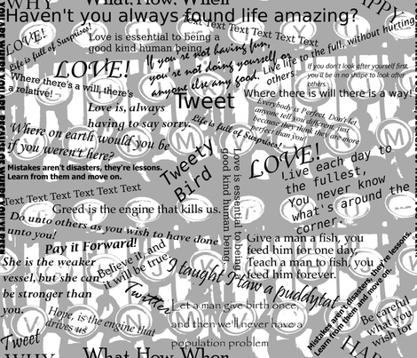 Words They Can Make You Or Break Fabric By Art On Spoonflower