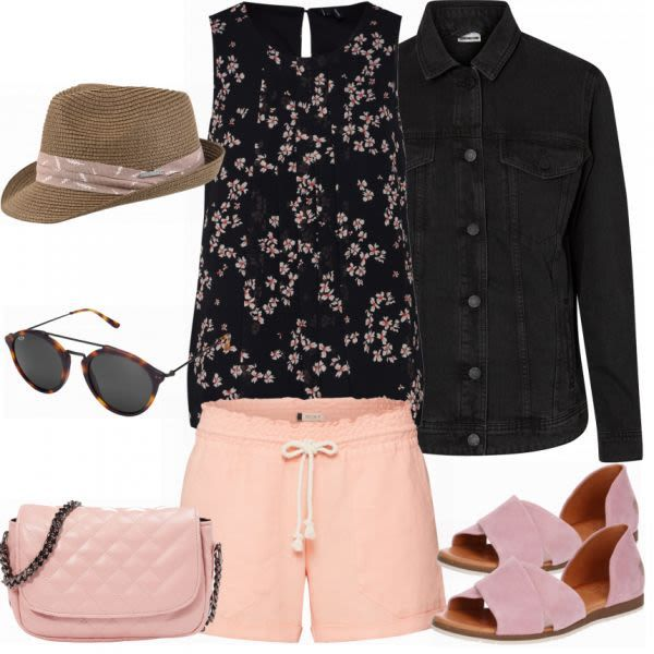 Sommer-Outfits: Hawaii Shorts Outfit bei FrauenOutfits.ch #mode #damenmode #frau…