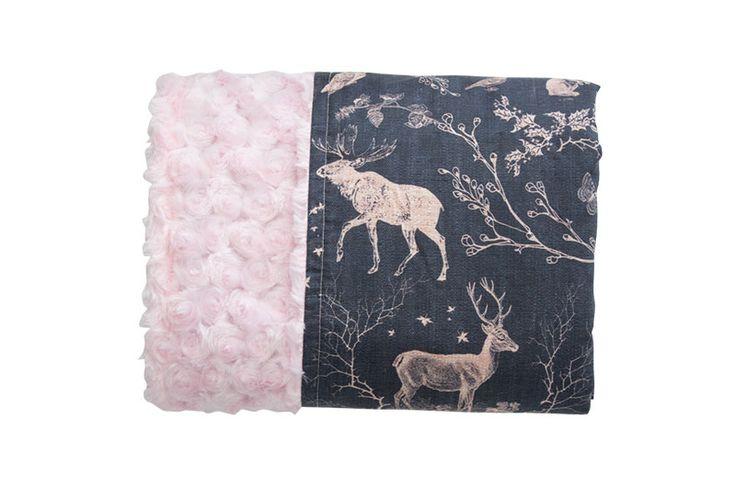 Woodland Love Reversible Minky Blanket - Levi & Evelyn