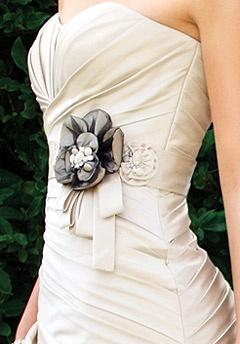 wedding dress -sash detail