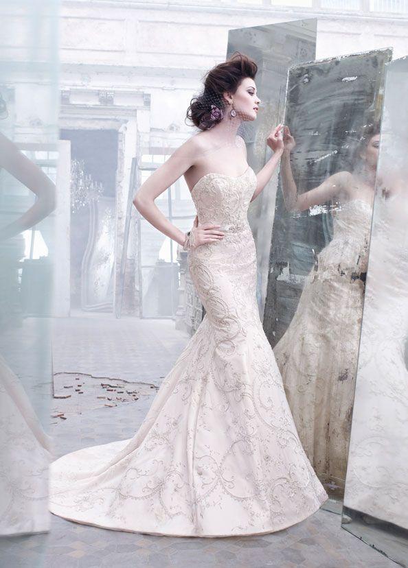 104 best Bridal Gowns | Lazaro images on Pinterest | Wedding frocks ...