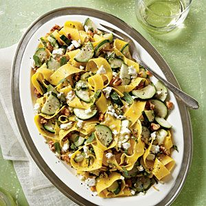 Zucchini-Mint Pasta | MyRecipes.com