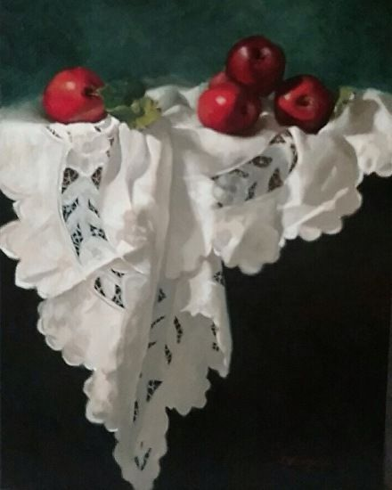 Deborah Elmquist - Red Delicious- Oil - Painting entry - February 2017   BoldBrush Painting Competition