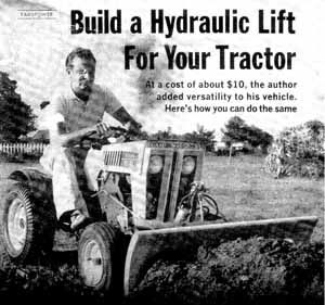 Build a Tractor Hydraulic Lift Plans