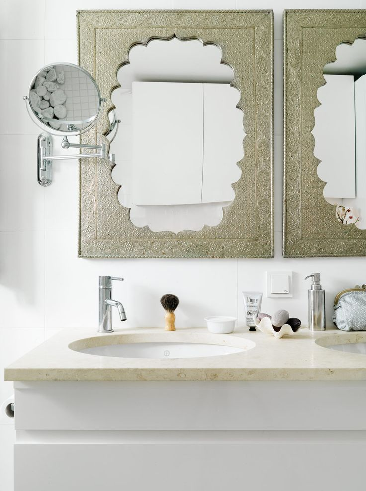 Moroccan Style Vanity Mirrors These Can Fit In With A Simple Modern Like This Small Bathrooms DecorBathroom