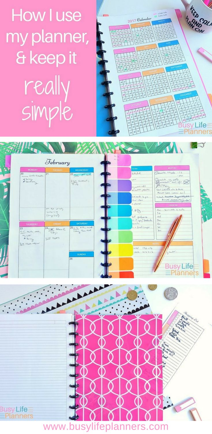How I use my planner - how I manage to keep it simple, functional and gorgeous, without wasting loads of time each week planning! Using the very awesome Busy Life Planner system.