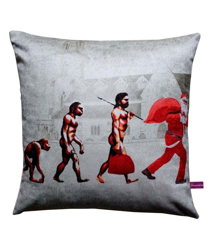 Evolution Of Santa Clause Cushion Cover by Vivora Homes