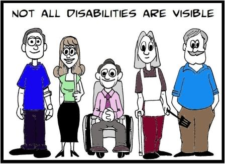 Not all disabilities is visible