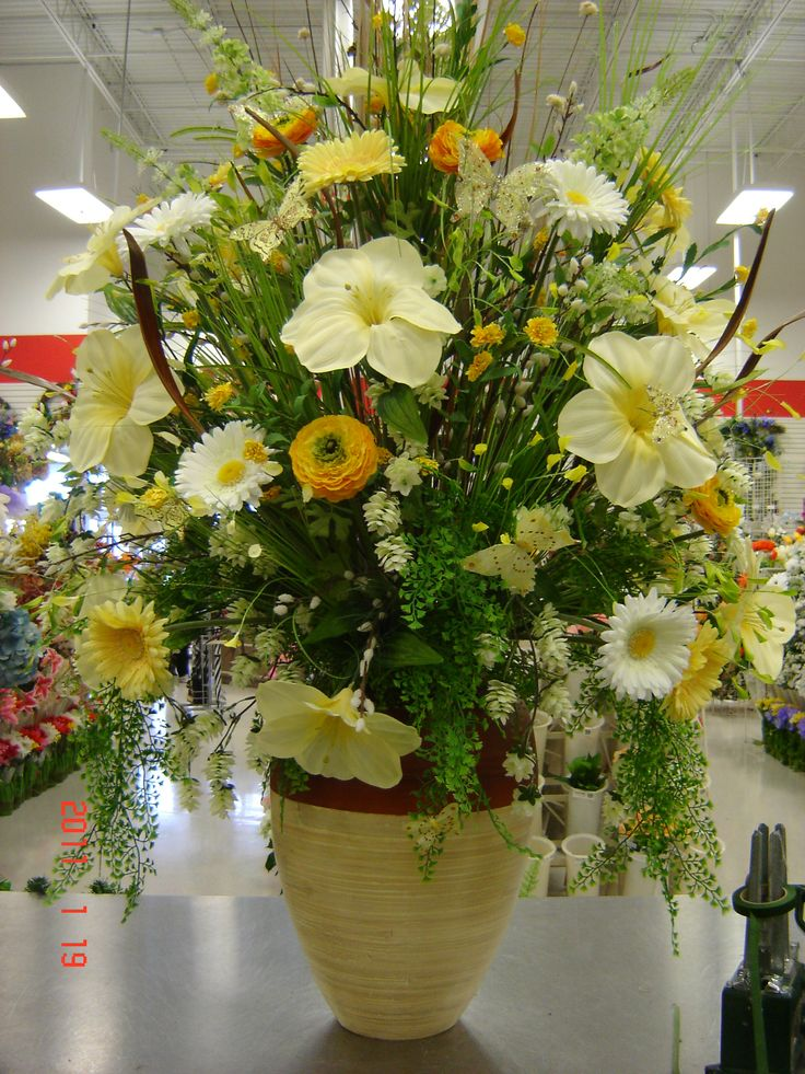 Spring Wildflower Watering Can | Easter flower ... |Large Spring Floral Arrangements