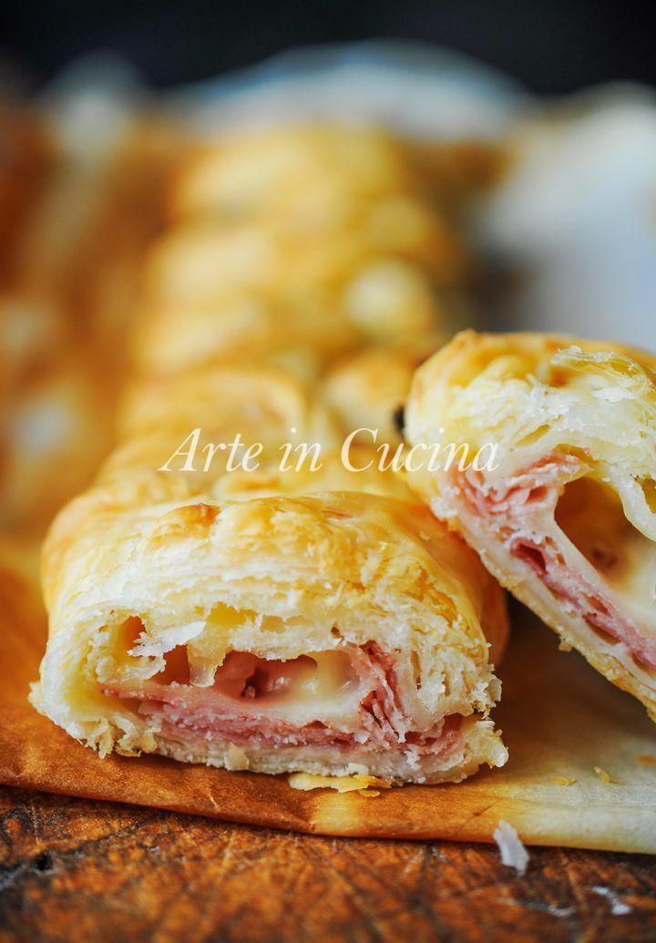 Treccia di sfoglia con prosciutto e formaggio vickyart arte in cucina