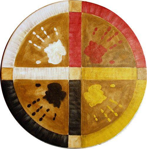 4 colors of man.....Indian Art, Medicine Wheels Crafts, American Indian, Autumn Earth, Step Stones, Stuff Boards, Random Stuff, Black, Native American Drums
