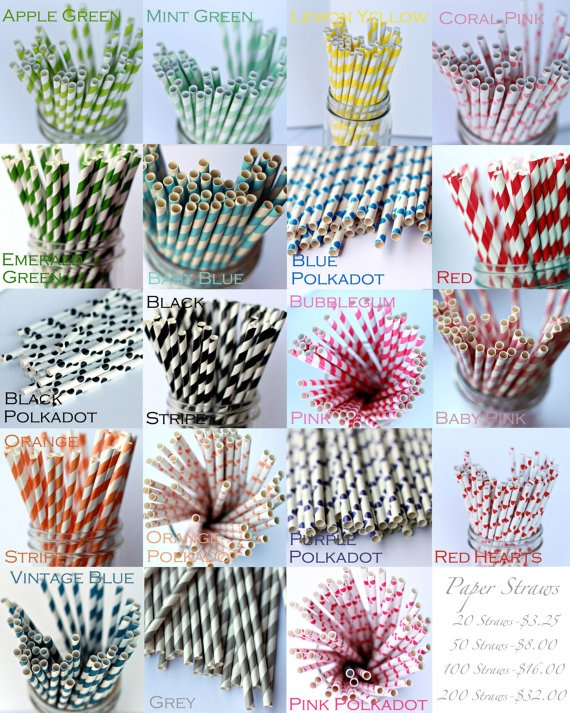paper straws $16/100