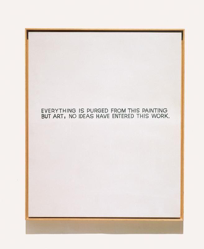 John Baldessari - Everything is purged from this painting but art,no ideas have entered this work - 1966: Art Blog, Art Aesthetics, Clean Artists, Art Inspiration, Art No Ideas, John Baldessari, Texts Paintings, Art Artists, Art Sake