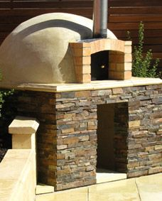 wood fire oven for the outdoor living room