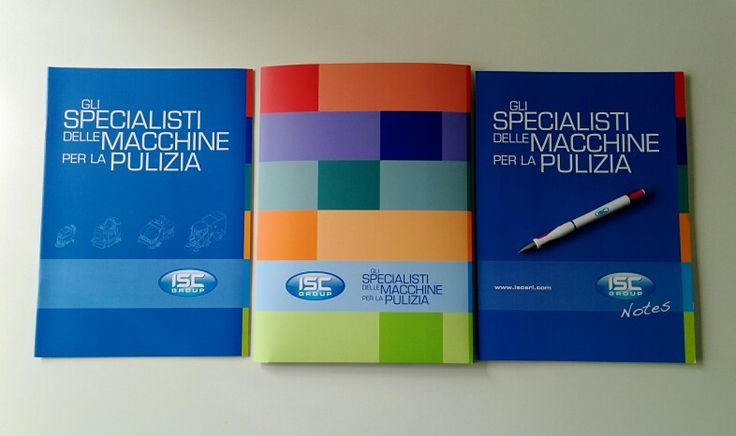 #corporate #brochure, folder and notebook for @ISCGroup designed by me #WEeKanDesign.it