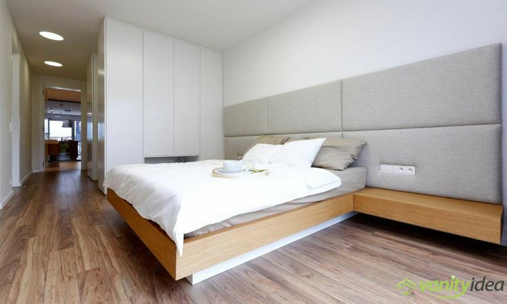 the bedroom has modern furnishings and design