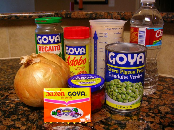 Everything you need for a Puertorican dish