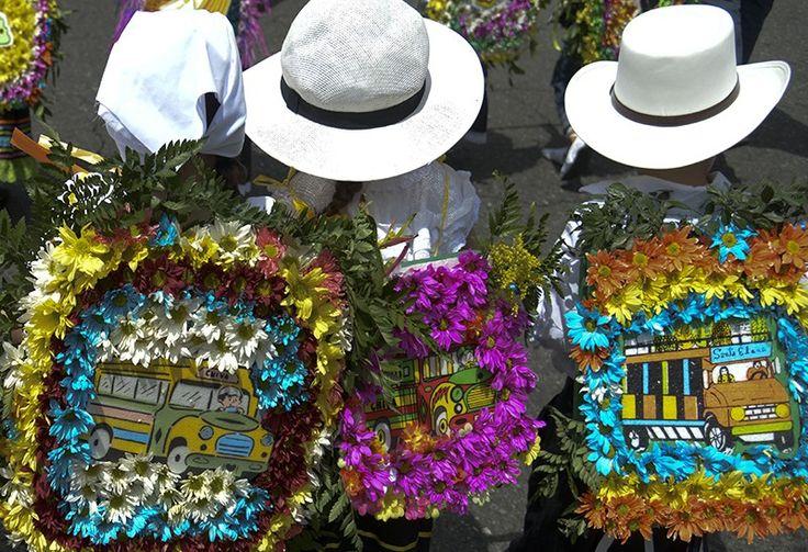 Los silleteritos y sus coloridas creaciones en la Feria de las Flores