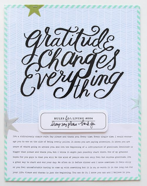 Ali Edwards | Blog: Rules For Living | Scrapbook & Cards Today Spring 2015 Article