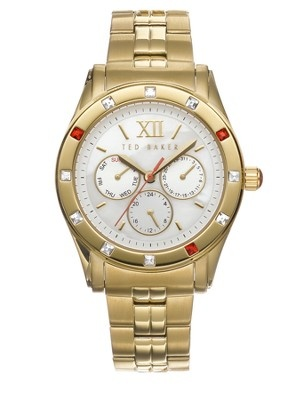 Ted Baker Gold Bracelet Watch with Multi Crystal Detail, http://www.littlewoodsireland.ie/ted-baker-gold-bracelet-watch-with-multi-crystal-detail/1218983632.prd