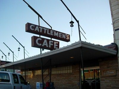 oklahoma city stockyards | Cattlemen's Steakhouse - Stockyards City, OK - Diners, Drive-ins, and ..  Best Steaks! Best House Salad Dressing.