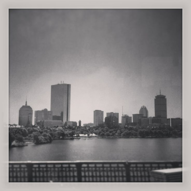 Getting a little nostalgic for the view of Boston from the Red Line as you cross Longfellow Bridge - currently the view is obstructed by construction fencing as the bridge gets an overhaul.