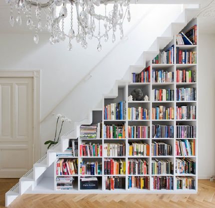 Under the stairs bookcasesv