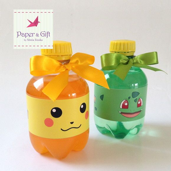 Refrigerante Personalizado Pokemon | Paper & Gift | Elo7