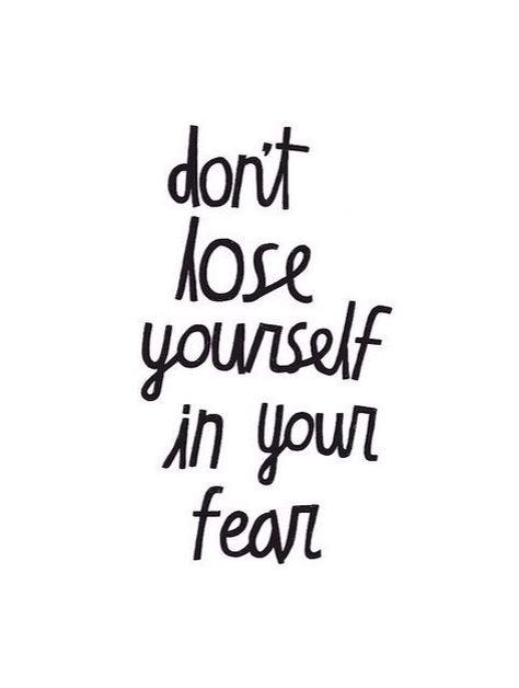 Fear is a barrier